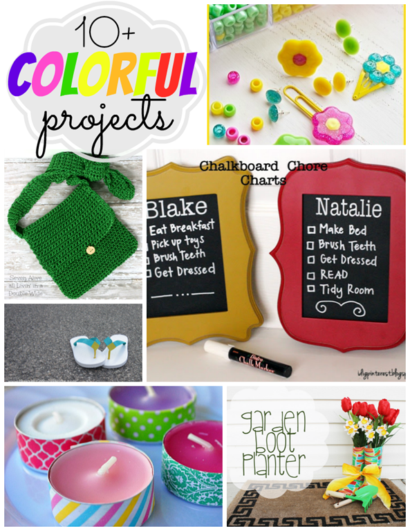 10  bright & colorful projects
