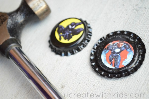Bottle Cap Zipper Pull Tutorial Step2