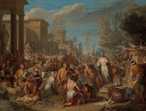 RIJKS: Jacques Ignatius de Roore: Jeroboam Sacrificing to the Idols 1744