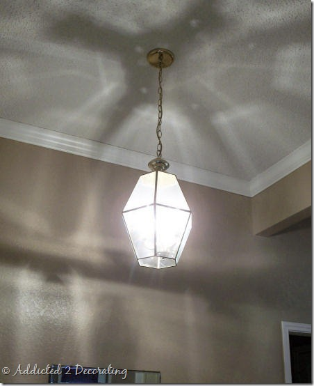 outdated brass chandelier