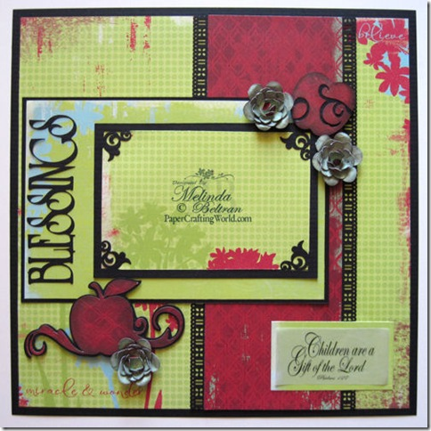 cricut blessing apple n flowers layout idea 500