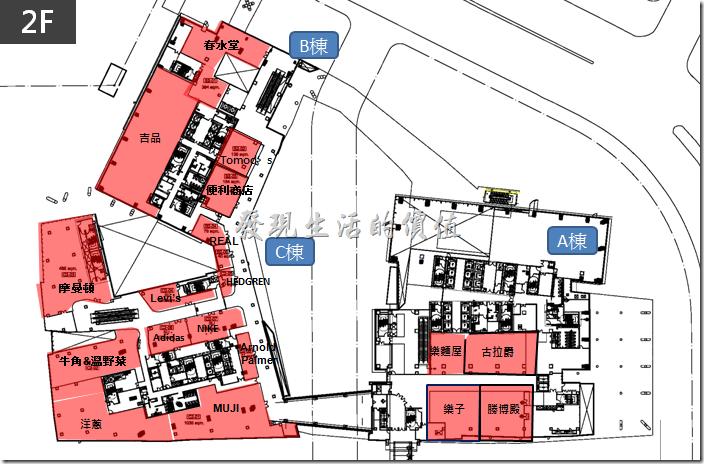 中國信託南港總部二樓店家分佈。