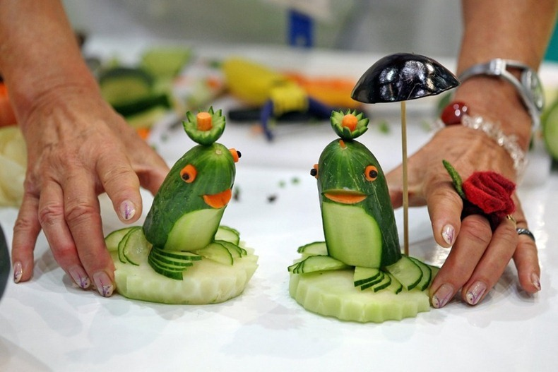 European vegetable carving championships amusing planet