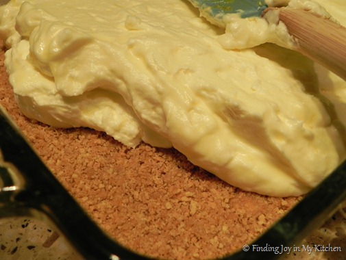 Frozen Lemon Tart - adding the lemon layer