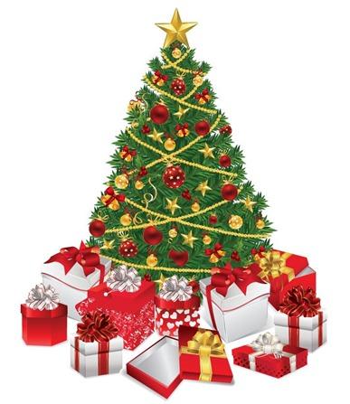 ChristmasTreewithGiftsVectorIllustration