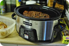 Pork in crock pot