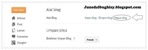 Cara Menghapus Blog