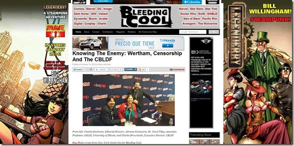 Knowing The Enemy  Wertham  Censorship And The CBLDF   Bleeding Cool Comic Book  Movies and TV News and Rumors