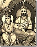 King Dasharatha with son Rama
