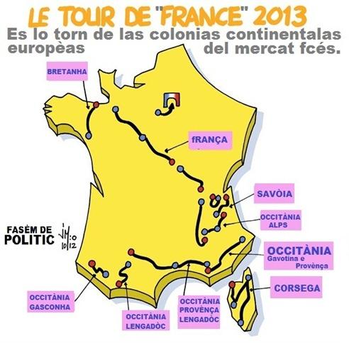 Mapa del Tour de France