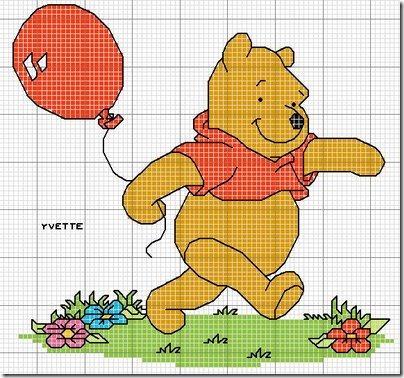 Esquemas Winnie the pooh en punto de cruz | Tu Punto de Cruz