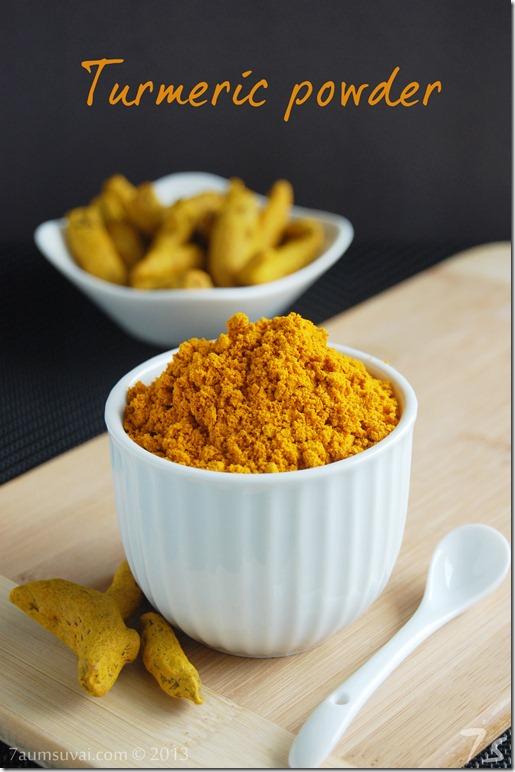 Homemade turmeric powder
