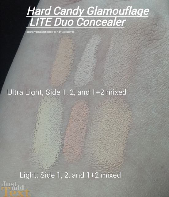 Hard Candy LITE Glamoflauge Blendabe Concealer & Corrector Duo Review & Swatches of Shades Light/Medium, Light, Ultra Light
