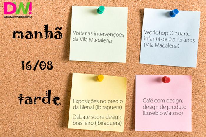 Programação design weekend dia 16