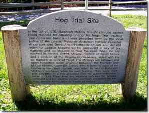 Hog Trial Site Historic Sign in McCarr, KY