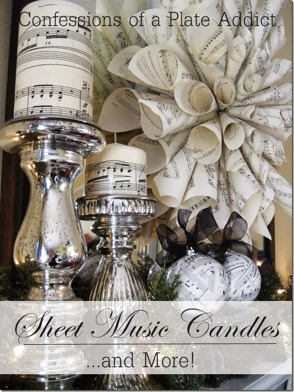 CONFESSIONS OF A PLATE ADDICT Sheet Music Candles and More!