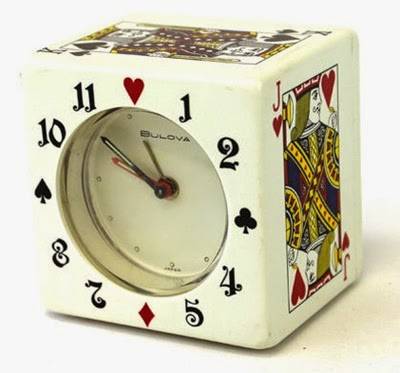 Bulova playing cards clock