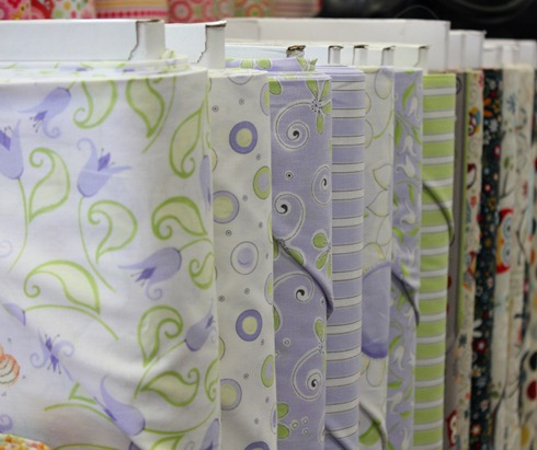 Lovely purple and green fabrics from Susybee