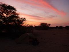 Campspot in the Sechura Desert in Northern Peru.