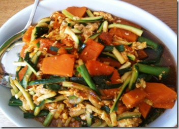 pumpkin and zucchini stir fry