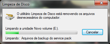 Limpando: Arquivos de backup do service pack