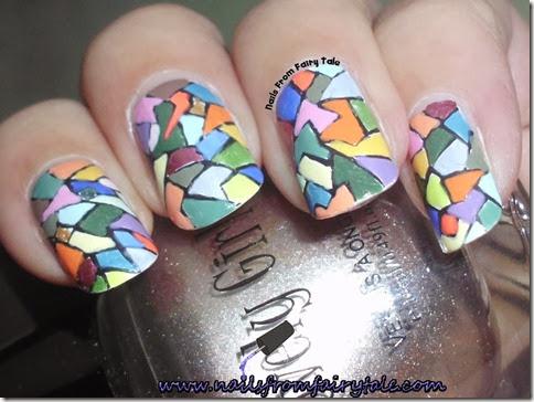 mosaic nail art 2