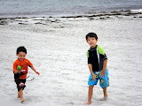 Eidan and Kai at Hazard's Beach