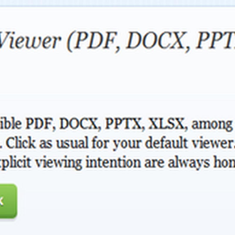 เปิดเอกสาร pdf,docx,pptx,xlsx และอื่่น ๆ บน Firefox