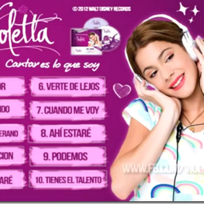 Violetta – Cantar es que soy – Cântece inedite