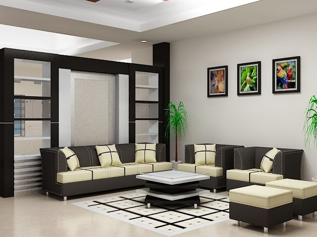 contoh warna cat ruang tamu