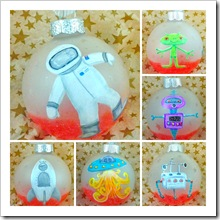 Red Planet Space Ornament Set