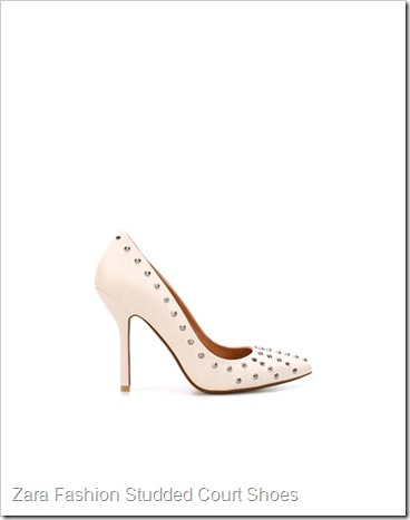 Zara FASHION STUDDED COURT SHOE