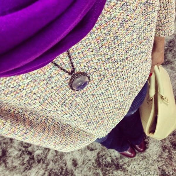 look calça flare, tricô e cachecol (1)