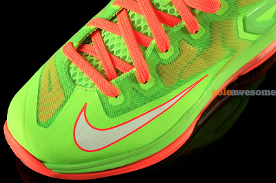 nike lebron 11 low gs volt bright orange 1 07 Nike Lebron XI Low GS in Bright Volt and Really Bright Orange