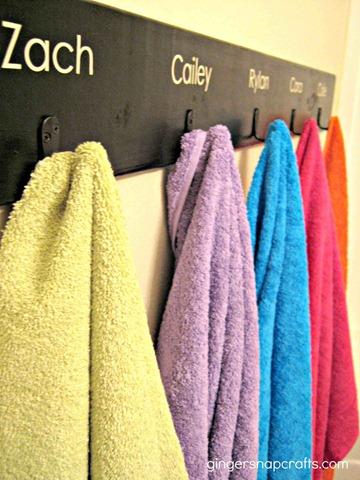 bath towel hooks