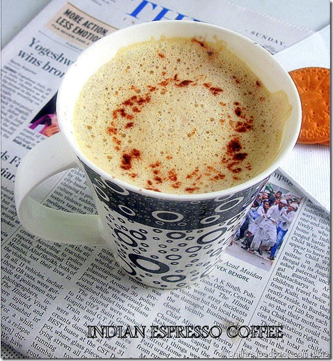 INDIAN ESPRESSO COFFEE | FROTHY ESPRESSO COFFEE | Chitra's Food Book