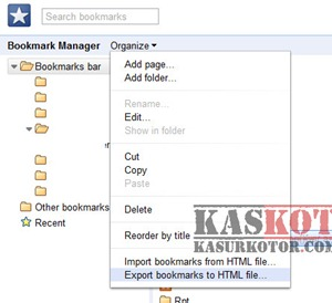 Import Bookmark dari Chrome ke Firefox
