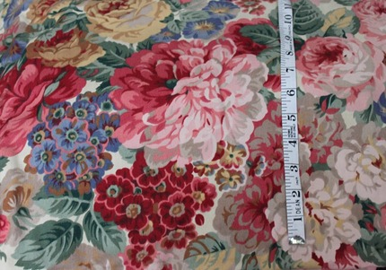 large floral heavy cotton