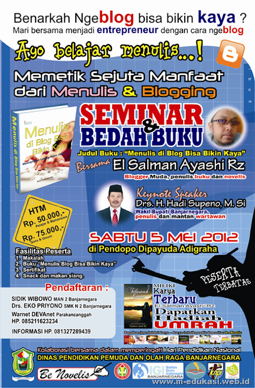 seminar dan bedah buku blog