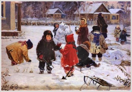 Гончаров Григорий Андреевич  (Россия, 1913-2001) «Первый снег»