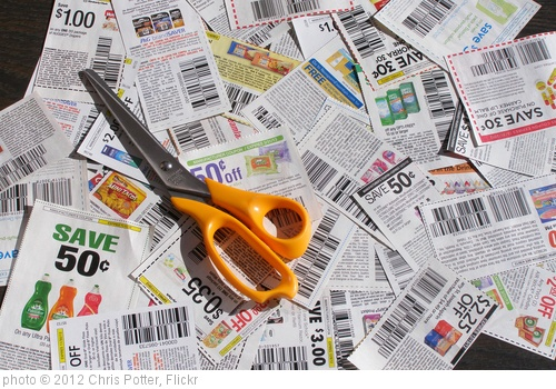 'Clipped Coupons With Scissors 1' photo (c) 2012, Chris Potter - license: http://creativecommons.org/licenses/by/2.0/
