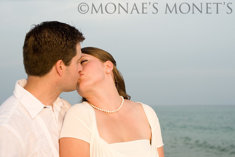 Kissing by beach blog