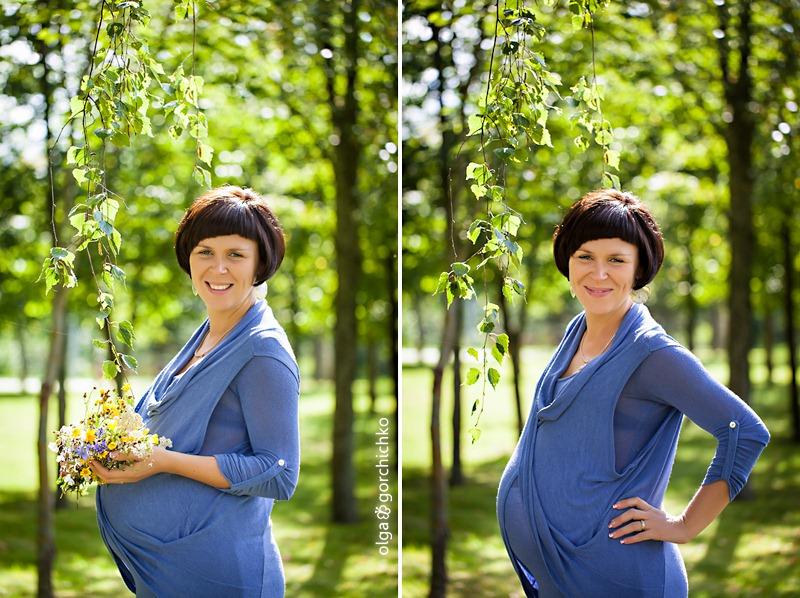 Летняя фотосессия беременности. Мария
