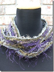 purple green gray necklace scarf