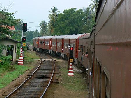 Calatorie cu trenul: in tren in Sri Lanka