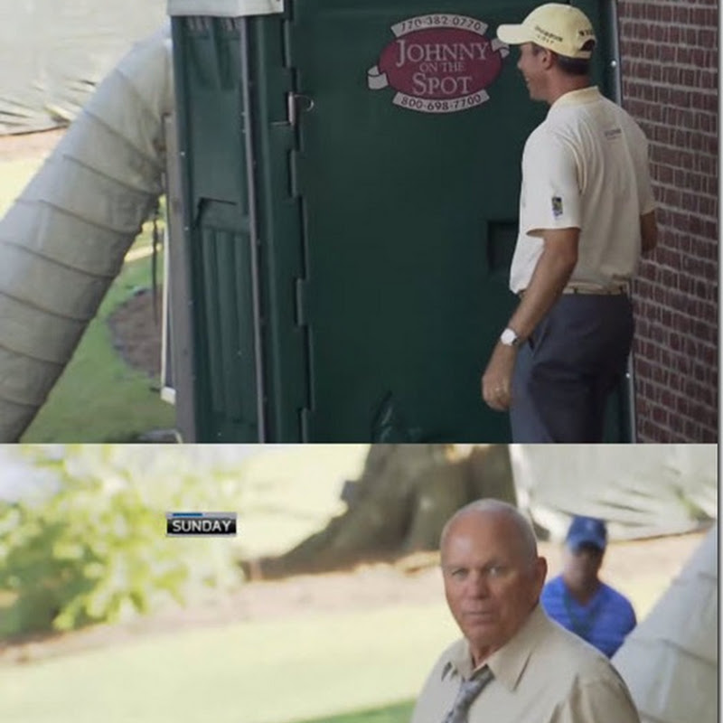 Video: Matt Kuchar Locks Butch Harman In A Portaloo