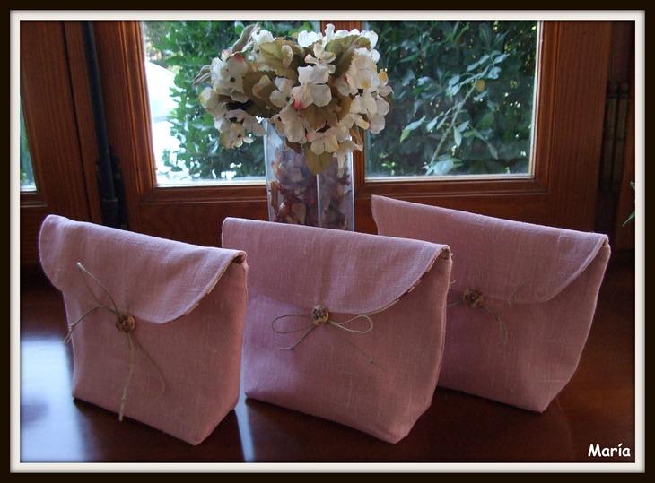 Bolsas de lino rosa-2