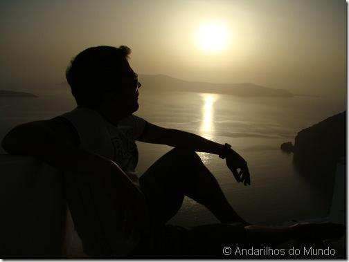Por do Sol Santorini Grecia