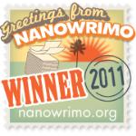 NaNoWriMo 2011 Winner Badge