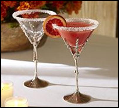 skeleton hand martini glass